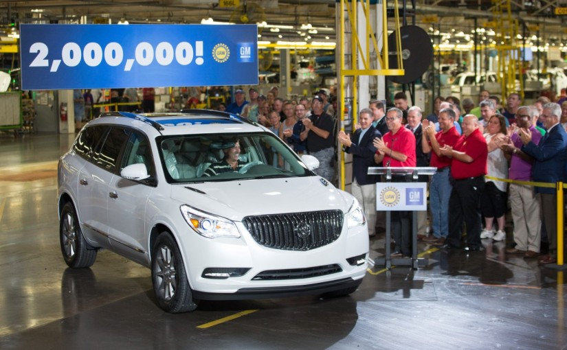 White Frost Tricoat Buick Enclave is milestone large crossover
