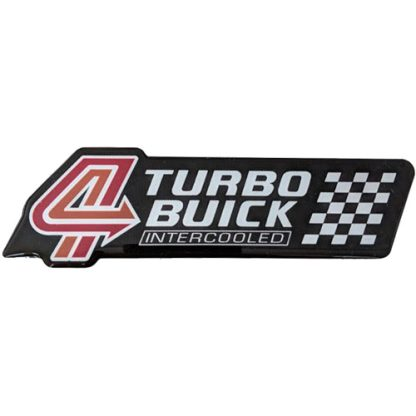 turbo buick badge