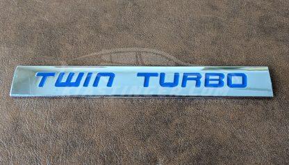 blue twin turbo badge